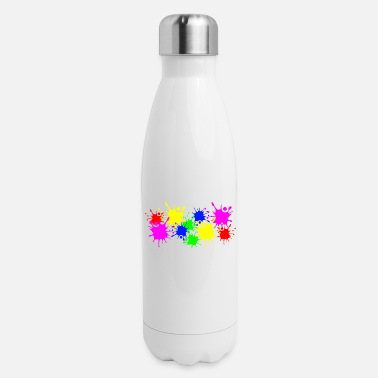Color Splash Splashes of color splashes of color color color du - Insulated Stainless Steel Water Bottle