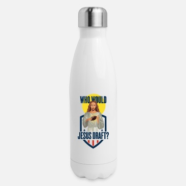 Pro Fantasy Football Funny Jesus Draft Party Gift or T - Insulated Stainless Steel Water Bottle
