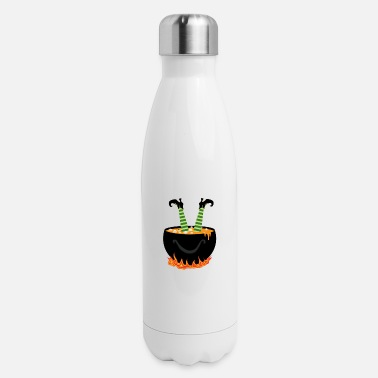 Witch Witch in a witch's cauldron - Insulated Stainless Steel Water Bottle