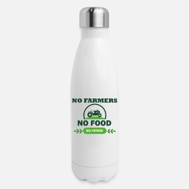 Food NO food no food no future - Insulated Stainless Steel Water Bottle