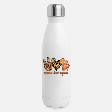 Peace Peace Love Africa - Insulated Stainless Steel Water Bottle