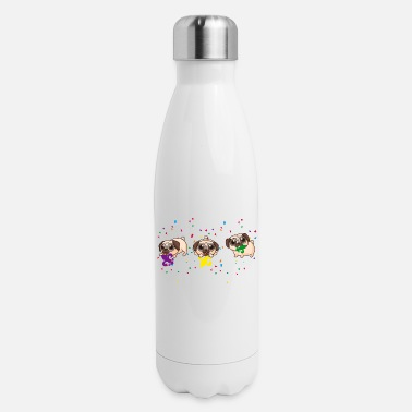 Minimum Mardi Gras Fleur De Lys For Cute Pug Dog Lover - Insulated Stainless Steel Water Bottle
