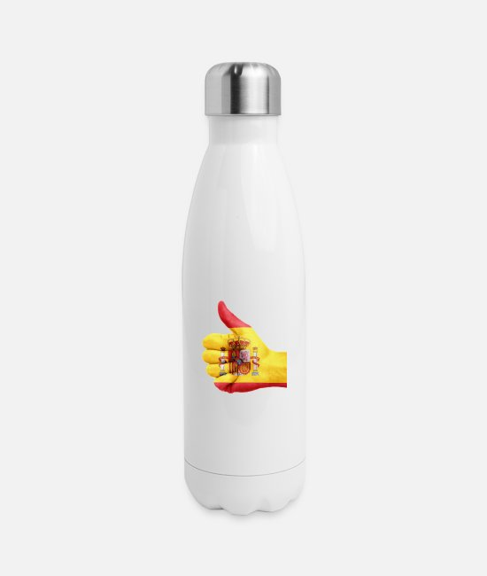 Homeland Mugs & Cups - spain - Insulated Stainless Steel Water Bottle white