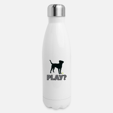 Golden Retriever Tennis Ball Pup Play Puppy Play - Insulated Stainless Steel Water Bottle
