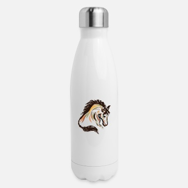 horse head painting art | horse head t-shirt - Insulated Stainless Steel Water Bottle