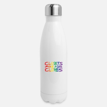 Queer Slogans LGBT Gay Pride Homosexuality CSD - Insulated Stainless Steel Water Bottle