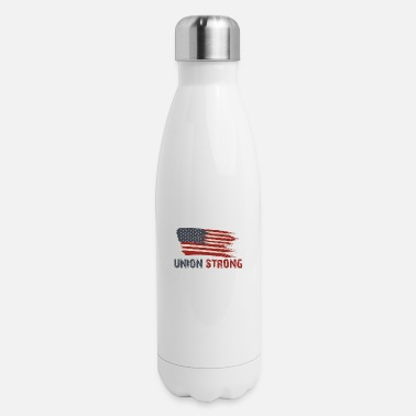 Union Strong Vintage USA Flag Proud Labor Day - Insulated Stainless Steel Water Bottle