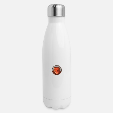 Russian Circles Russian Bear Head Growling Circle Retro - Insulated Stainless Steel Water Bottle