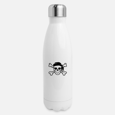 Bandera Pirate Skull Banderas - Insulated Stainless Steel Water Bottle