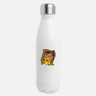 Leopard Leopard with a leopard background - Insulated Stainless Steel Water Bottle
