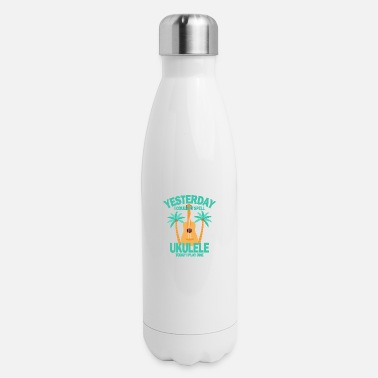 Sheet Yesterday I couldnt spell ukulele today I play one - Insulated Stainless Steel Water Bottle