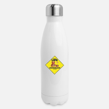 Cent Crazy funny Life, sign specific life counseling. - Insulated Stainless Steel Water Bottle