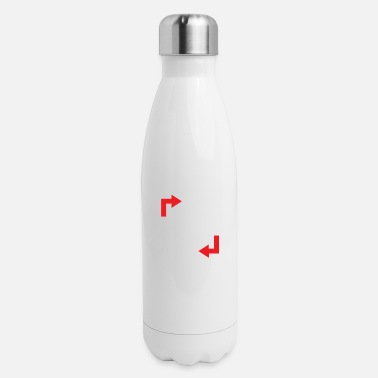 Healthy Healthy Living Diagram - Insulated Stainless Steel Water Bottle