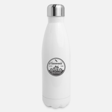hawaii surfing - Insulated Stainless Steel Water Bottle