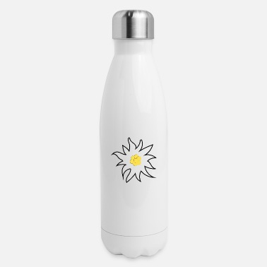 Dirndl Flower in white - Insulated Stainless Steel Water Bottle