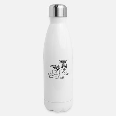 Ángel affectionate angels angel angels angels angels ang - Insulated Stainless Steel Water Bottle