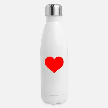 Cuore 2000px Love Heart SVG svg - Insulated Stainless Steel Water Bottle