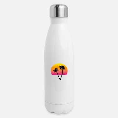 palms and sun II - Insulated Stainless Steel Water Bottle
