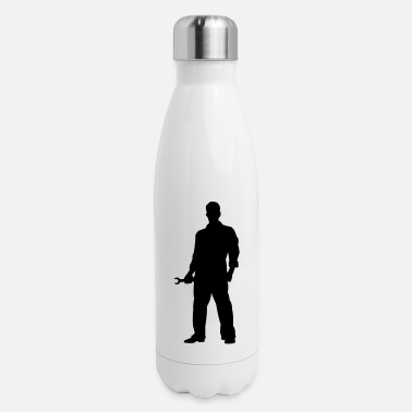 Mechanic Silhouette - Insulated Stainless Steel Water Bottle