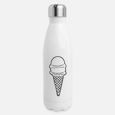 Ice Cream Cone ice cream cone - Insulated Stainless Steel Water Bottle