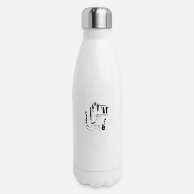 Musical Instruments Music Dancing Celebrations Party Singen Rappen - Insulated Stainless Steel Water Bottle