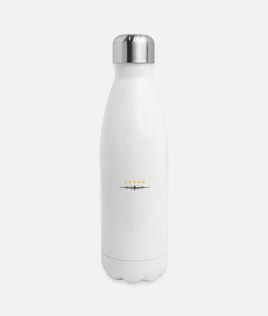 Pilot Mugs & Cups - Propeller Aircraft - Insulated Stainless Steel Water Bottle white