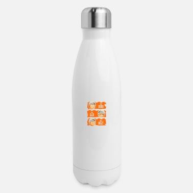 Cop GOOD COP BAD COP UGLY COP - Insulated Stainless Steel Water Bottle