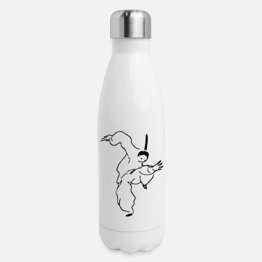 Qigong Figures shaolin kung fu stance - Insulated Stainless Steel Water Bottle