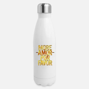 more love in the world gold amore spread love - Insulated Stainless Steel Water Bottle