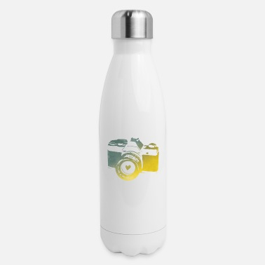 Green Bay camera with heart - Insulated Stainless Steel Water Bottle