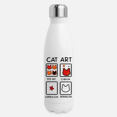 Cat Art cat art - Insulated Stainless Steel Water Bottle