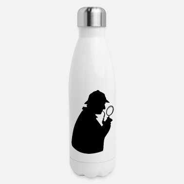 Private Detective Silhouette - Insulated Stainless Steel Water Bottle