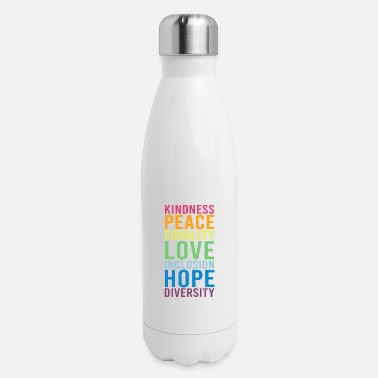 Human Righ Peace Love Inclusion Equality Diversity Human Righ - Insulated Stainless Steel Water Bottle