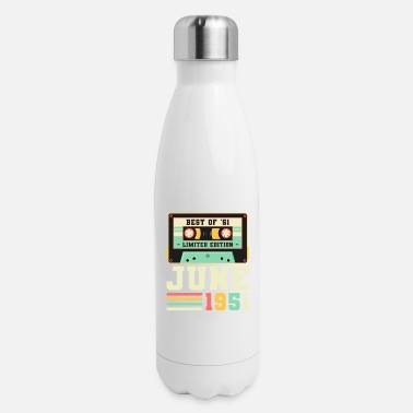 70th 70th Birthday June Gift Vintage 1951 70 Years - Insulated Stainless Steel Water Bottle