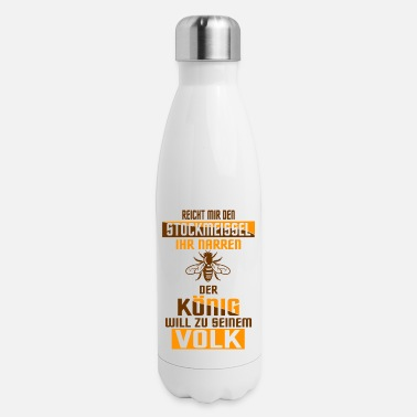Insect Chisel king people gift bee beekeeper honey - Insulated Stainless Steel Water Bottle