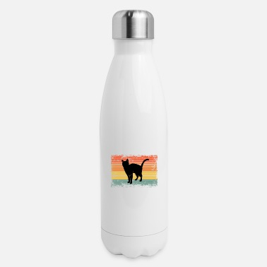 Vintage Outfit Vintage Siamese Cat Pet Animal Gift Idea - Insulated Stainless Steel Water Bottle