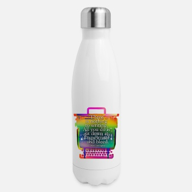 Hemingway hemingway typewriter - Insulated Stainless Steel Water Bottle
