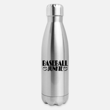 baseball_junkie_funny_shirt_ - Insulated Stainless Steel Water Bottle