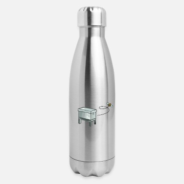 Beekeeper's Beehive with Bee - Insulated Stainless Steel Water Bottle