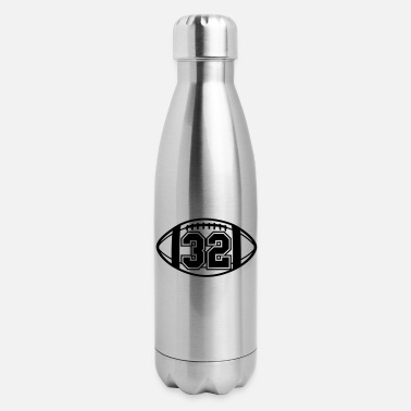 32 Football Vector 1_color TAS - Insulated Stainless Steel Water Bottle
