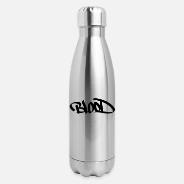 Blood Gang blood graffiti - Insulated Stainless Steel Water Bottle