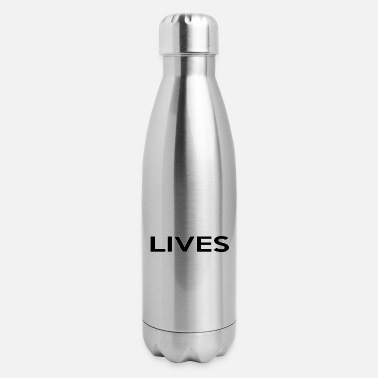 Racism Awareness Black Lives Matter - Anti-Racism Awareness Gift - Insulated Stainless Steel Water Bottle