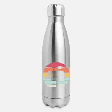 Post Box Retro Sunset Post Box Postal Worker Ballot Voting - Insulated Stainless Steel Water Bottle