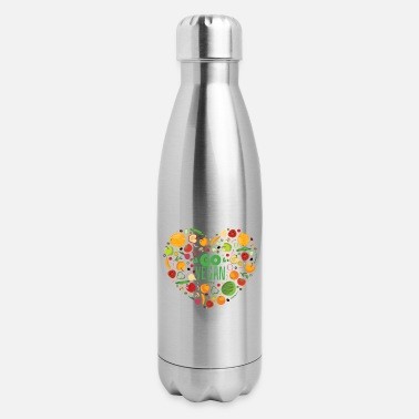 Carbs Keto Diet Healthy Fitness Gift Idea - Insulated Stainless Steel Water Bottle