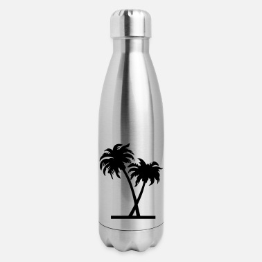 Palm Trees palm - palm tree - Insulated Stainless Steel Water Bottle