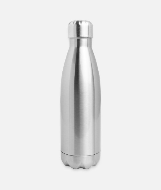 Heavy Mugs & Cups - Helvetica Metal - Insulated Stainless Steel Water Bottle silver