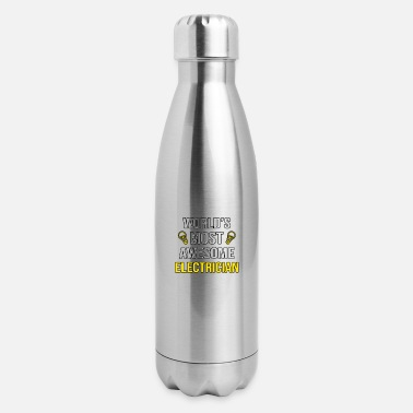 Funny Electrician World's Most Awesome Electrician Funny Electrician - Insulated Stainless Steel Water Bottle