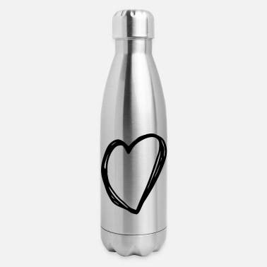 Love Heart Heart - love heart - Insulated Stainless Steel Water Bottle