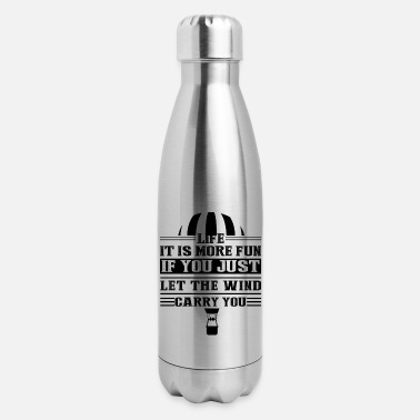 Balloon Hot Air Balloon Life Let The Wind Mug - Insulated Stainless Steel Water Bottle