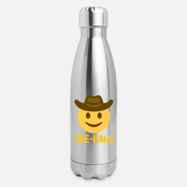 Cowboy yeeehaw Cowboy Hat Face Gift for cowboy lovers - Insulated Stainless Steel Water Bottle